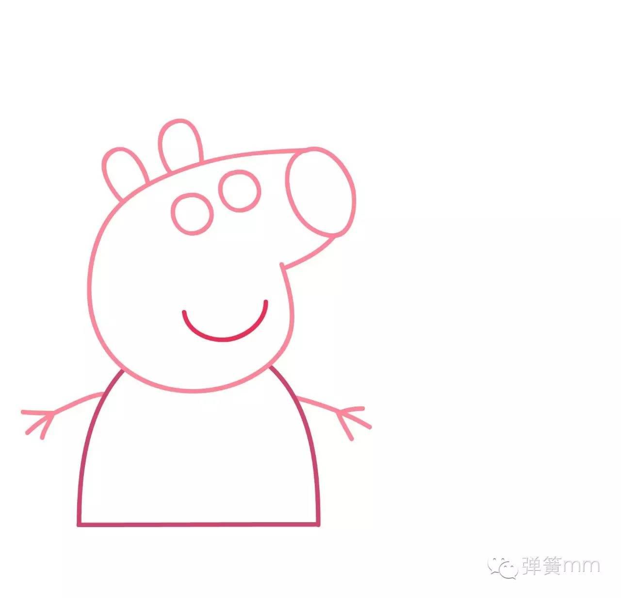 【跟着弹簧学画画】小猪佩奇和她的弟弟乔治