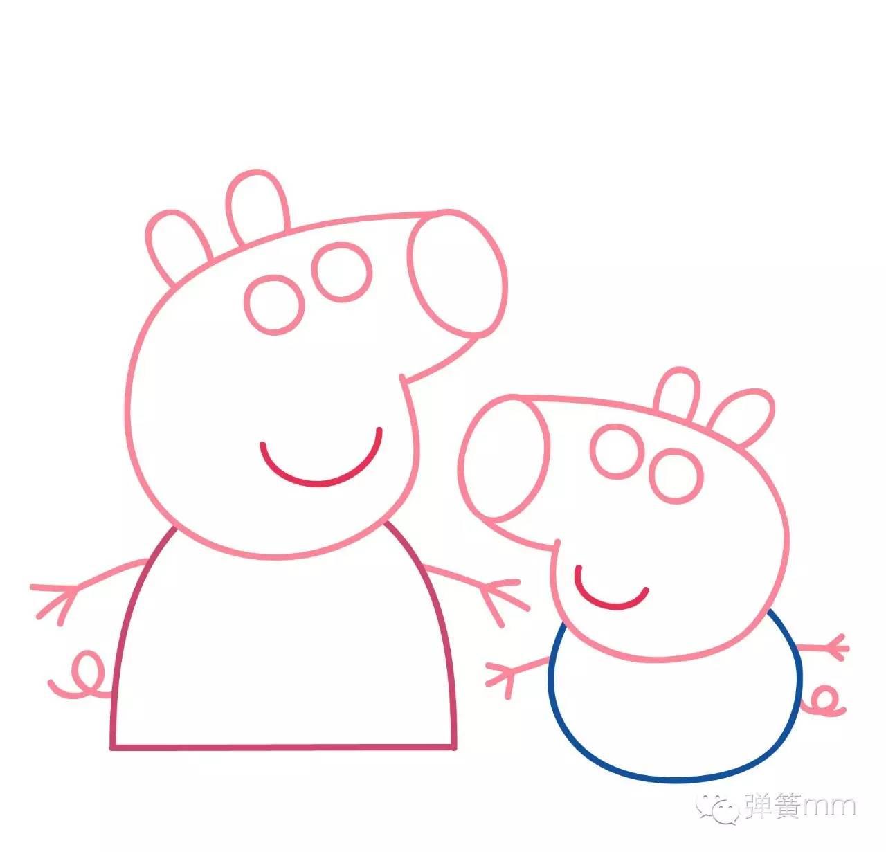 【跟着弹簧学画画】小猪佩奇和她的弟弟乔治图片