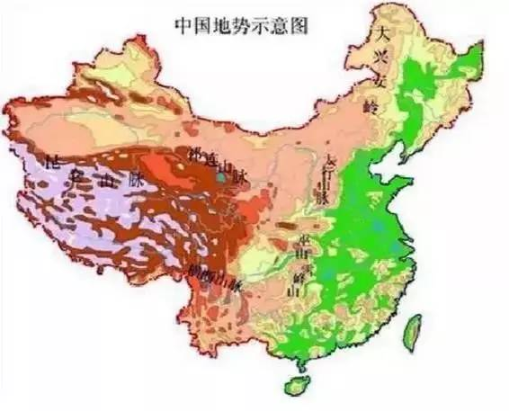 中国地势阶梯界线