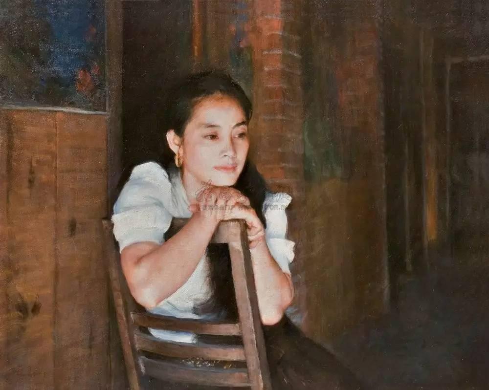 傣族女人体艺术_1998年作 《傣族少女》