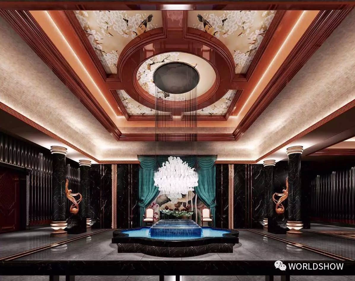 外立面采用欧式风格,室内古典大气的韵味打造出一个令人神往的会所