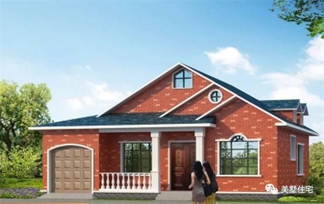 一层北方农村小别墅,简单实用带车库,12万建造
