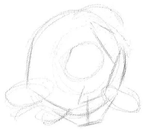 素描牡丹花的绘画步骤教程图片