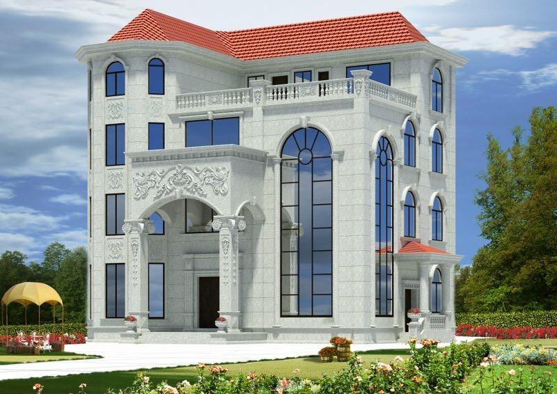 别墅外墙石材就该这样设计,不愧是专业厂家