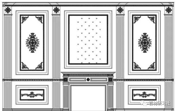 石材护墙板80款cad设计图