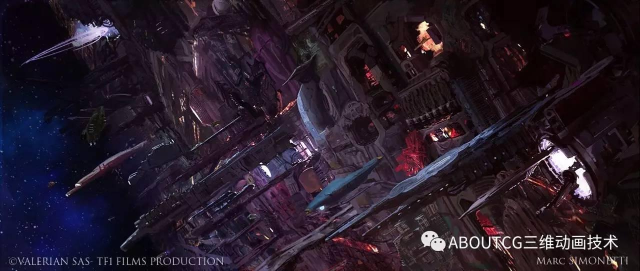 星际特工,千星之城的概念设计