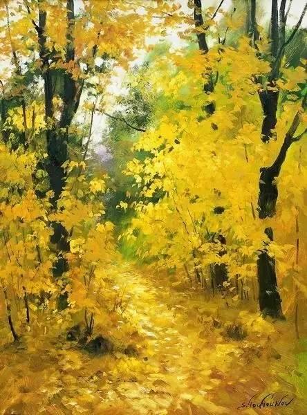 看看人家画的诗意风景油画,怎能不动心呢?