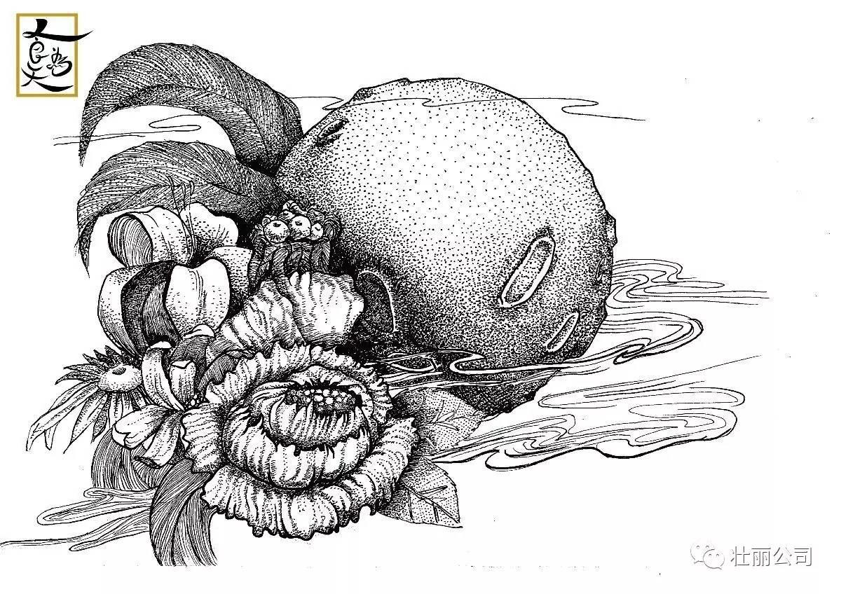 『月饼』手绘插画素雅的设计
