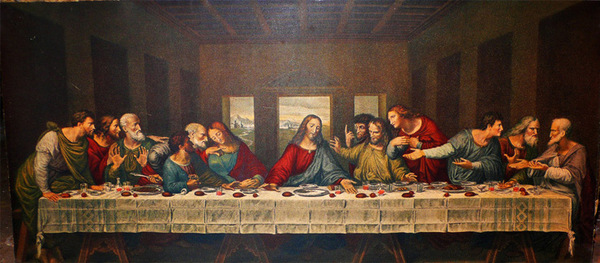 硅质画颜料健康环保 《最后的晚餐》 这两幅作品是达芬奇的代表作
