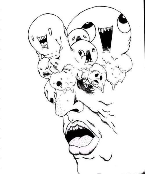 动漫 简笔画 卡通 漫画 手绘 头像 线稿 500_600