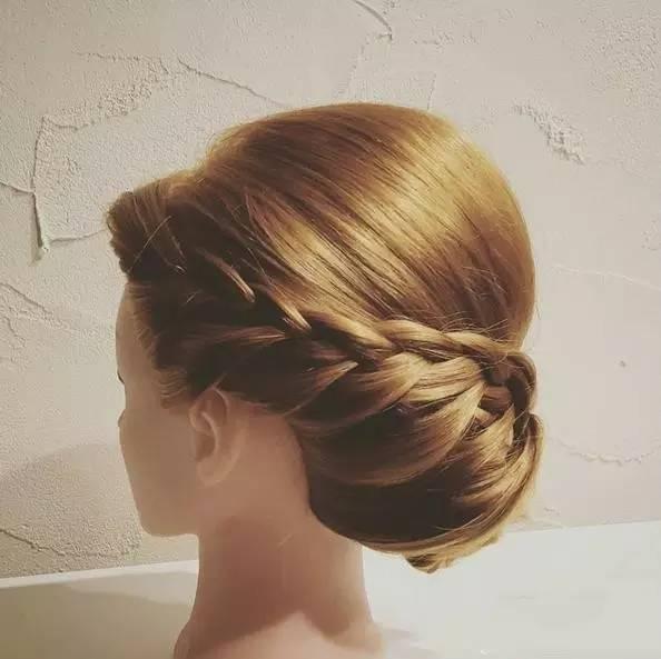 编发盘发教程图解 最新新娘伴娘发型,很简单1分钟学会