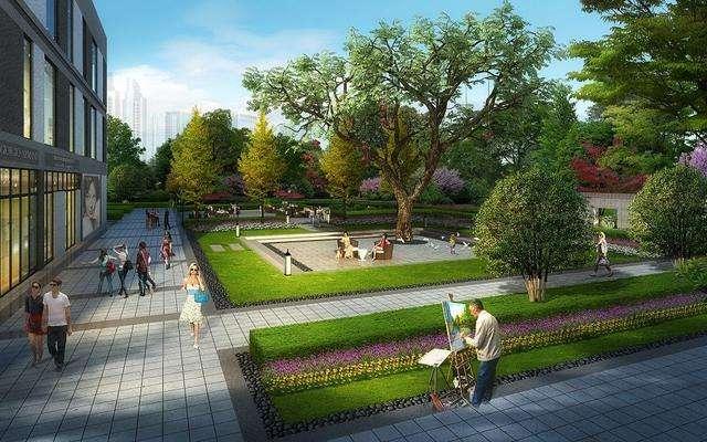 嘉禾田-商业街景观设计理念室内设计电脑图片图片