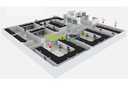 水产品检测实验室设计平面图SICOLAB牛奶燕麦字体设计图片图片