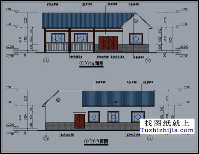 中式一层房屋设计施工cad图纸,不一样的中国风!
