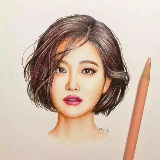 发型欣赏——手绘发型,简直是艺术品!