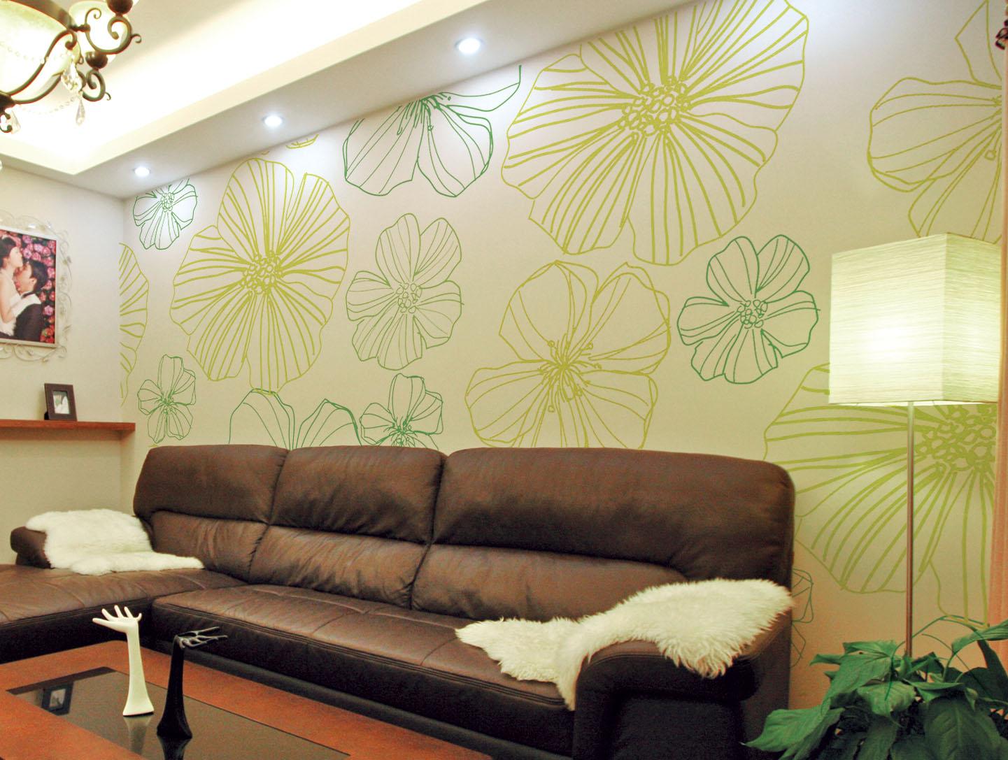 秀色可餐的贝壳粉餐厅背景墙以时尚装修效果为餐厅添彩,无论是简单