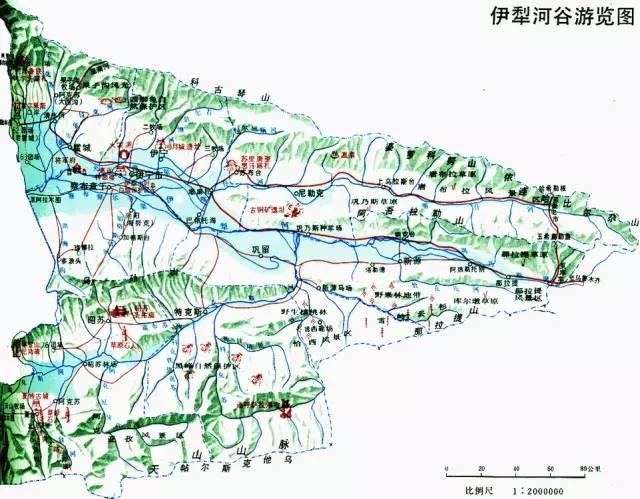 喀纳斯徒步地图