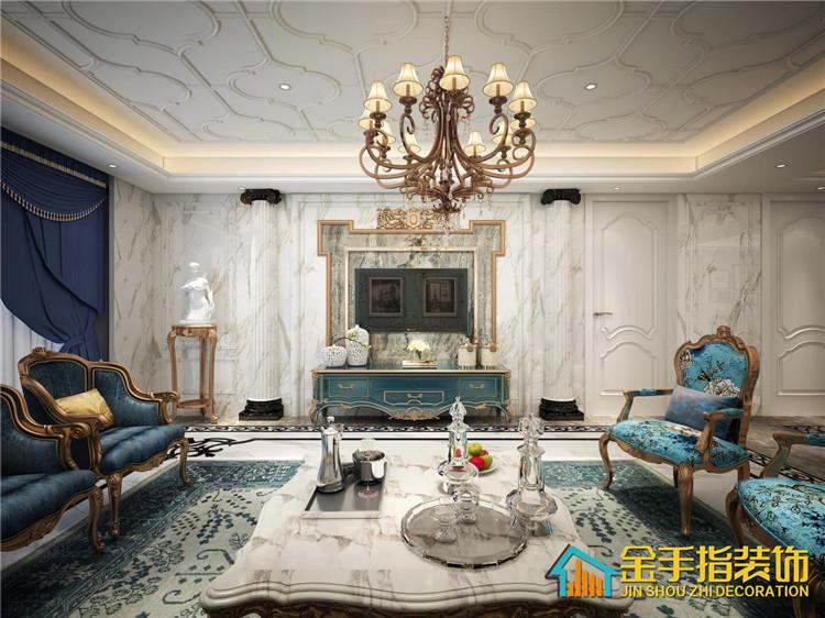 碧桂园别墅欧式风格客厅装修设计效果图