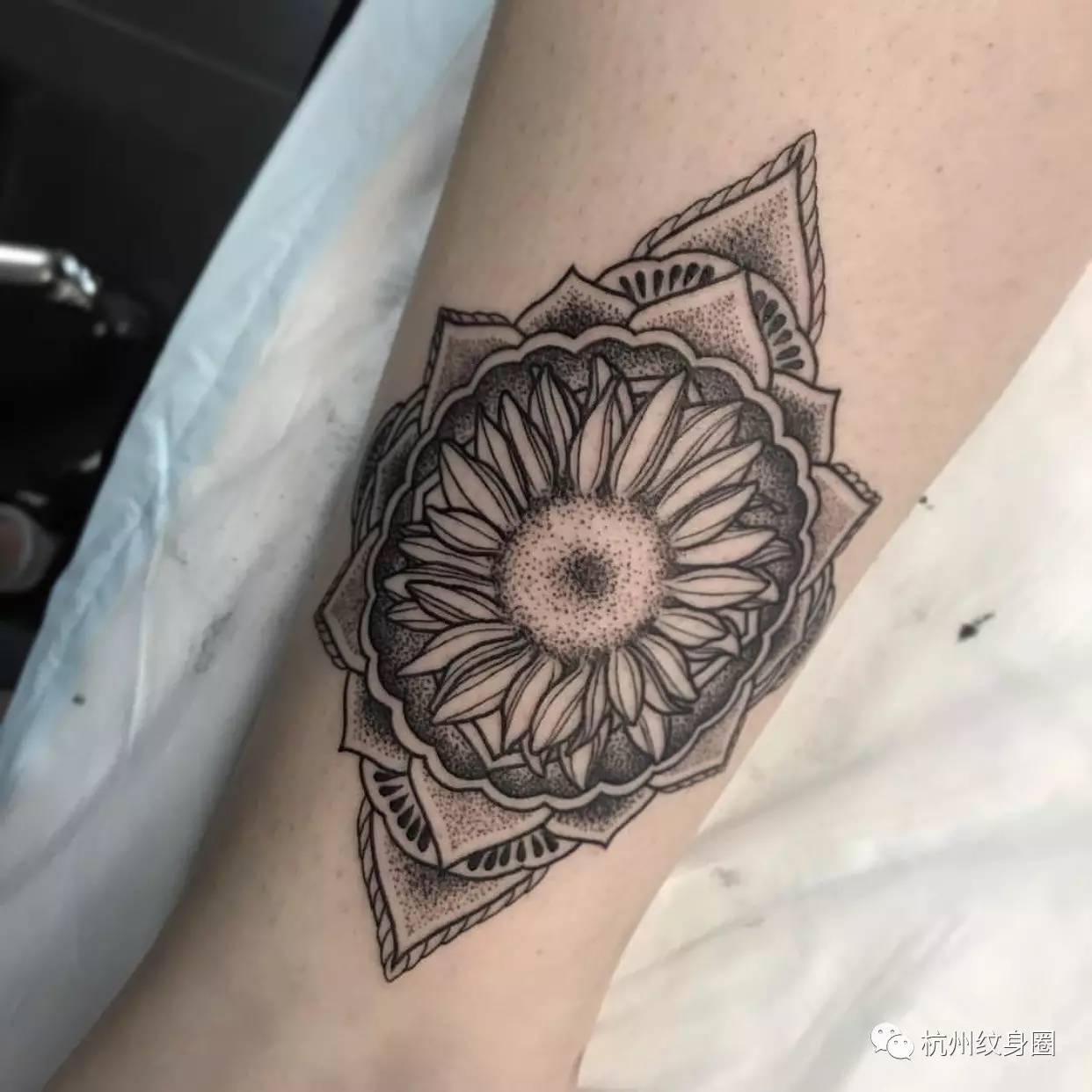 tattoo | 纹身素材:向日葵