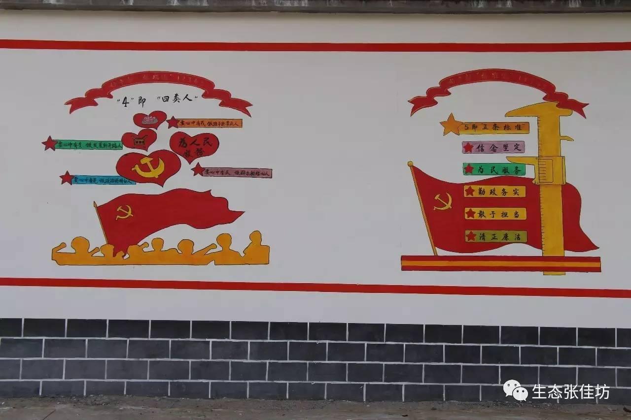壁画点亮新农村,充满艺术气息,张佳坊大写的美!图片