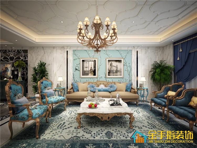 金手指装饰|碧桂园600平别墅欧式风格装修案例!