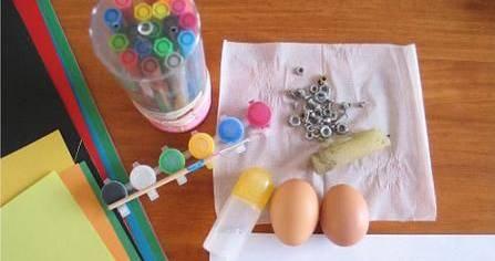 幼儿园手工制作之鸡蛋壳篇