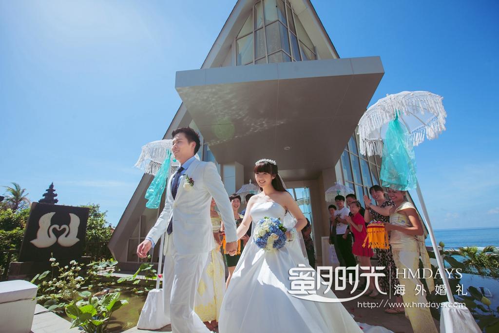 巴厘岛珍珠教堂婚礼