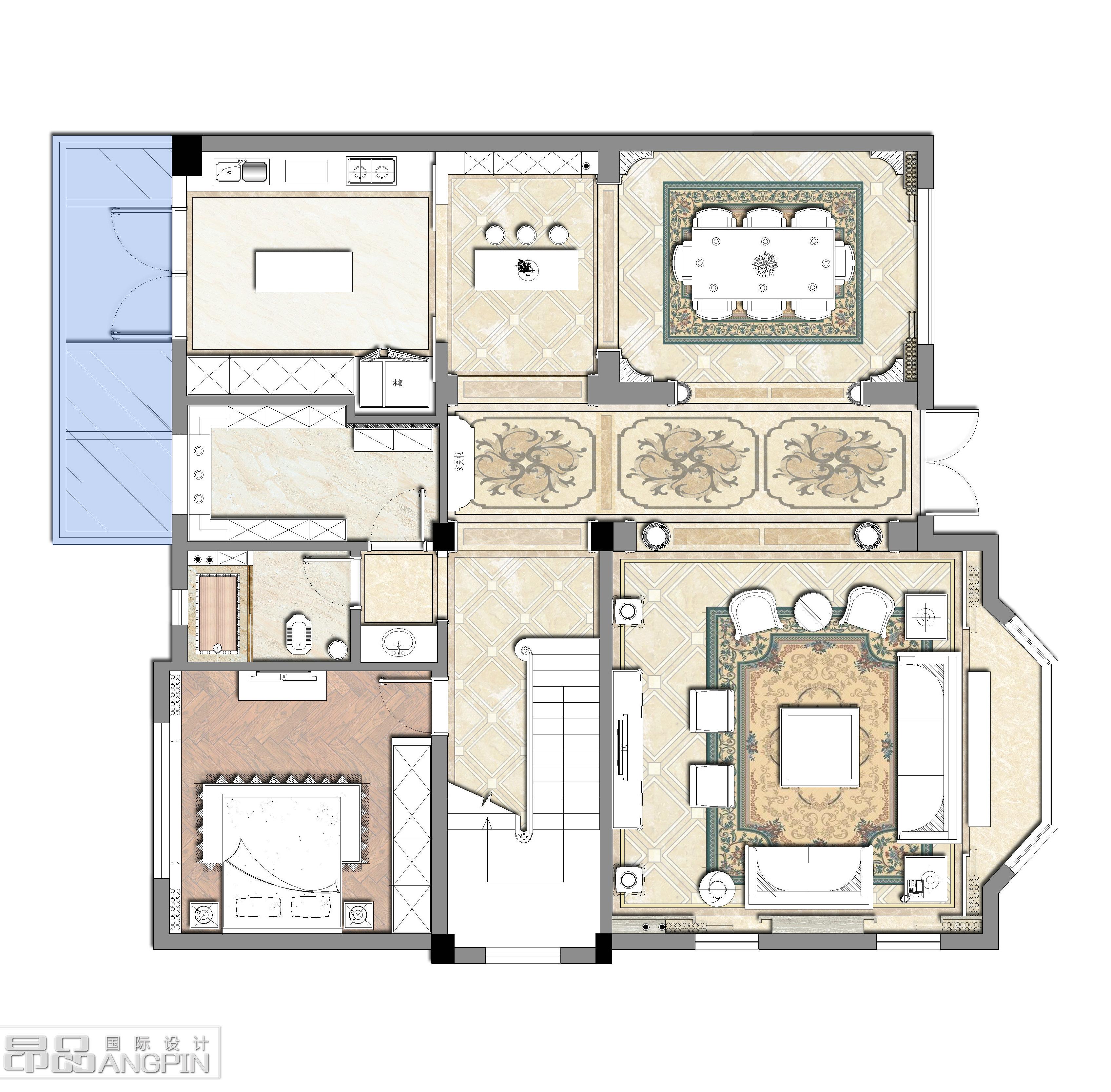 别墅一层平面设计