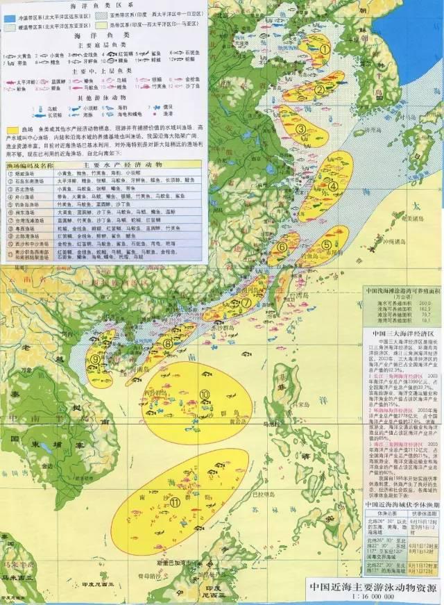 二,中国近海动物资源分布图