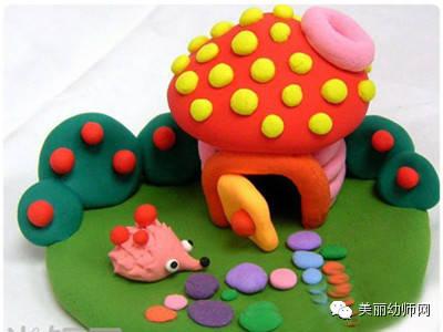 幼儿创意手工作品之—多彩橡皮泥