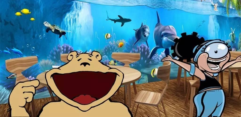 其他小鱼tiptoe past 蹑手蹑脚的小刺激心态吗,想让孩子对于海洋主题图片