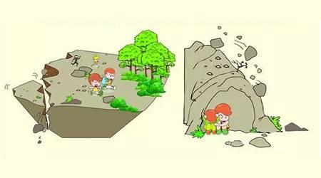 躲避山崩,滑坡,泥石流图片