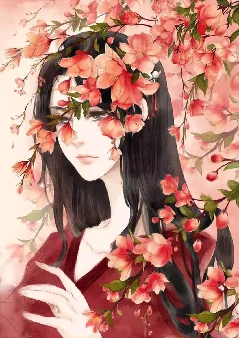 古风插画cg 壁纸同人古装美人手绘鼠绘厚涂唯美水墨中国风橙光 堆糖 图片