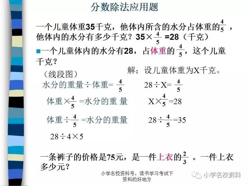 人教版数学六年级上册 分数除法 名校精讲 同步练习