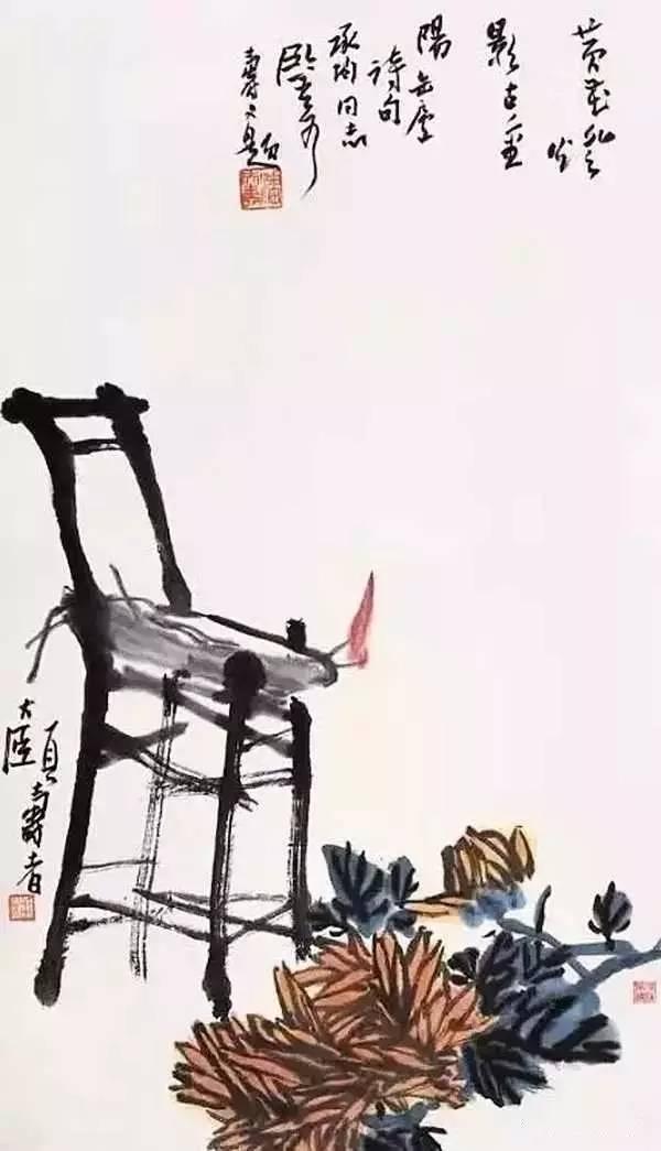 潘天寿罕见的花鸟小品 寥寥几笔,韵味无穷