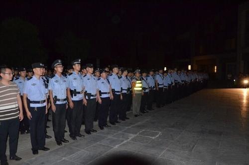 西安警方千余警力凌晨出击 查获传销人员1373名