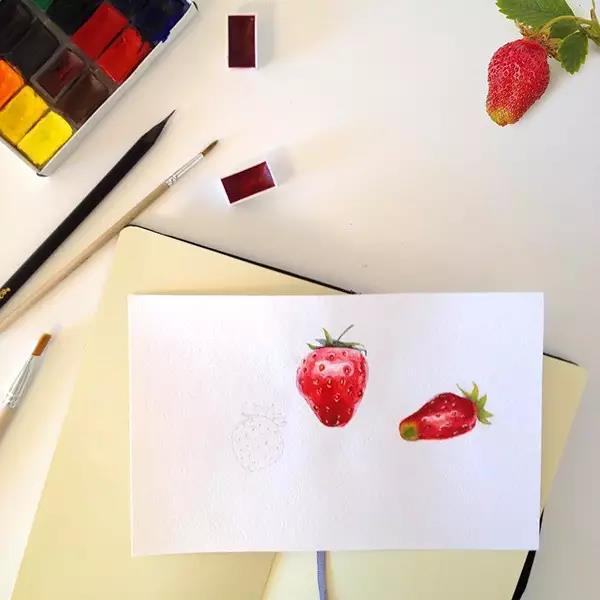 她把生活的的美好用水彩颜料画下来了