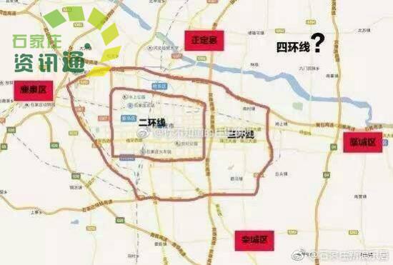 石家庄城市外扩建四环,四环具体位置基本已定