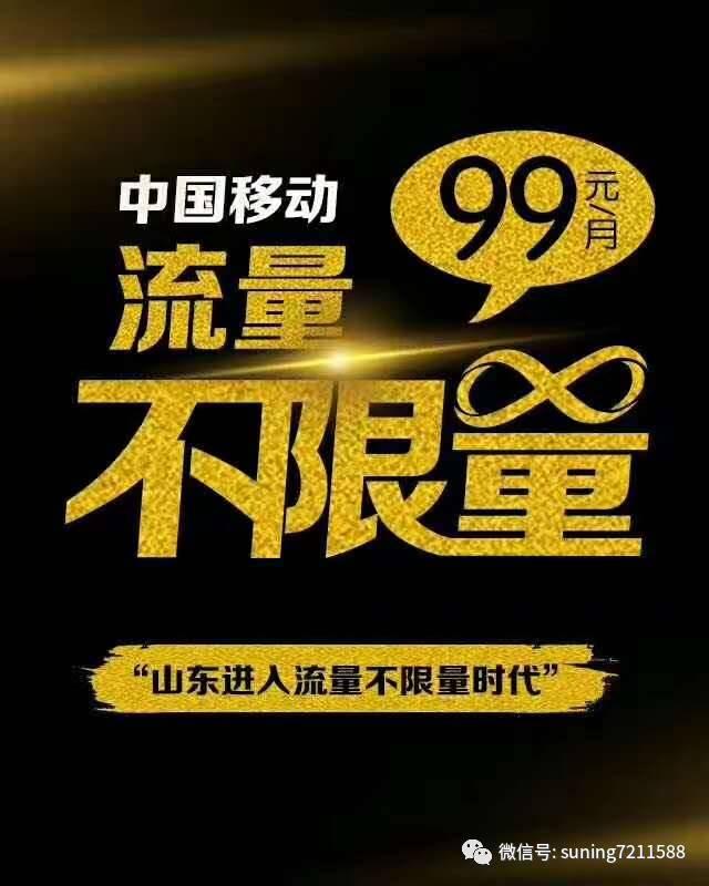 中国移动99元=无限省内国画+1gb国内流量+1000分钟王宁流量写意长城技法图片