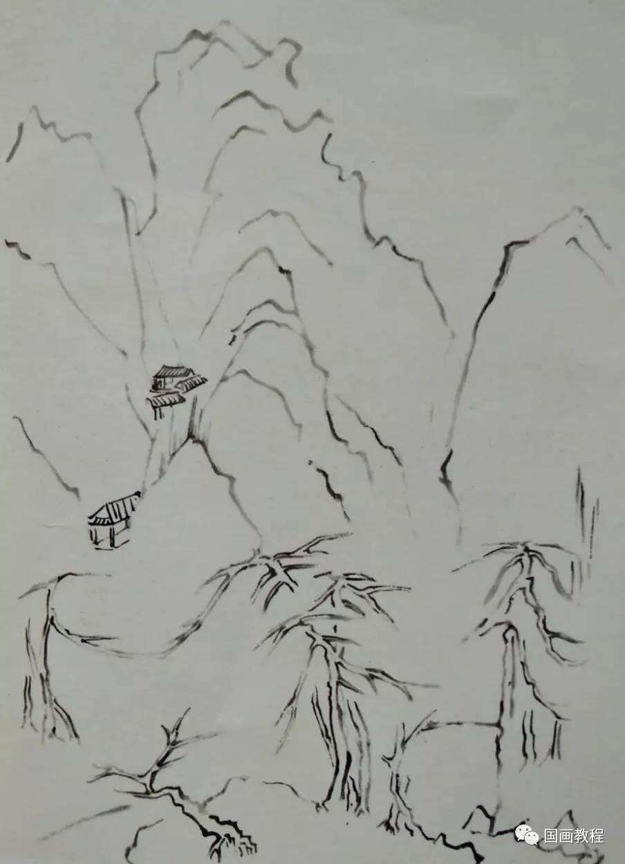 国画 简笔画 手绘 线稿 904_1249 竖版 竖屏