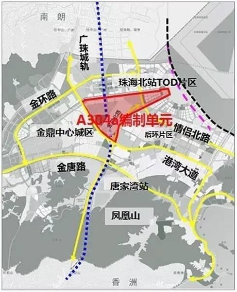 珠海市高新区A304a编制单元(科创海岸南围)控制性详细规划中