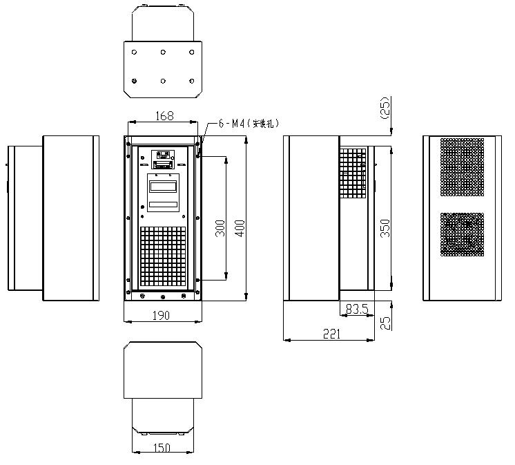 6.4安装步骤 1.确定空调为断电状态 2.按照机械安装图固定空调 3.剥去电源供电线的绝缘层并压端子头 4.按照电气接线图进行接线 5.接线完成之后用万用表查检电线路是否正常,然后上电用钳流表检测运行电流 注意:所有电气连接都必须符合国家电气规范要求,安装前必须断开空气调节器的所有电源。根据空气调节器铭牌的技术参数选择适合的线径以及检测运行电流。 6.