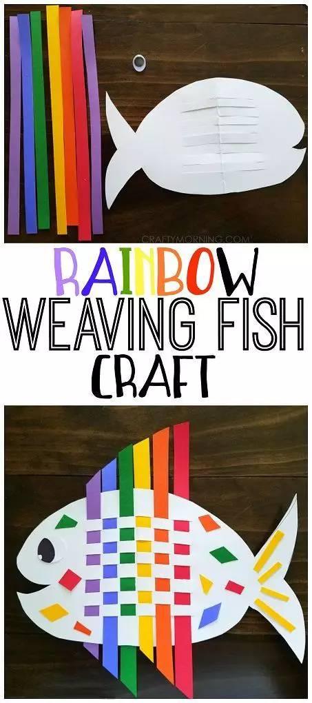 教育 正文  照样奉上各种构图素材~ 编织彩带鱼,需要一定耐性,但做成