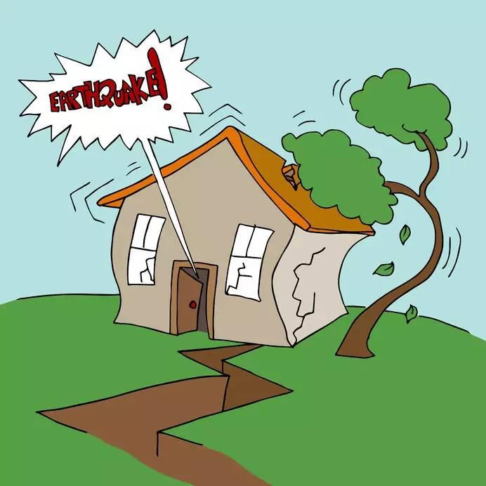大地震发生时,从地光,地声,大地晃动到房屋倒塌大约10~20秒,一次地