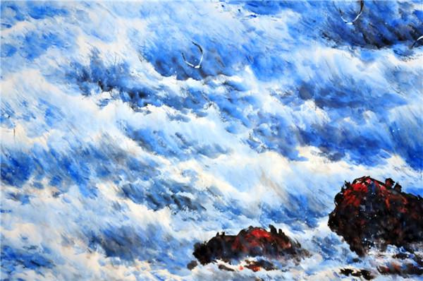 用笔墨触摸大海的灵魂:周智慧