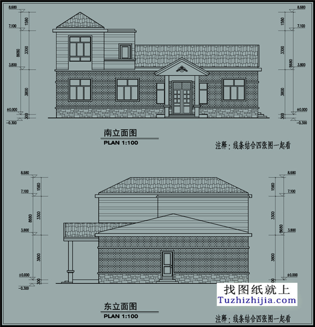 房屋一层农村建筑设计施工图,真正适合农村自图书馆装修施工组织设计图片