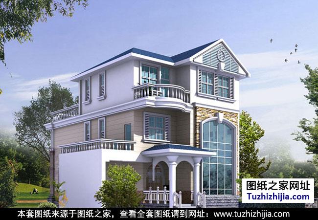 农村三层楼房新款图片,建好竟然比效果图还好看!