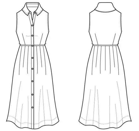 如何画好款式图?服装设计师的必备技能!图片