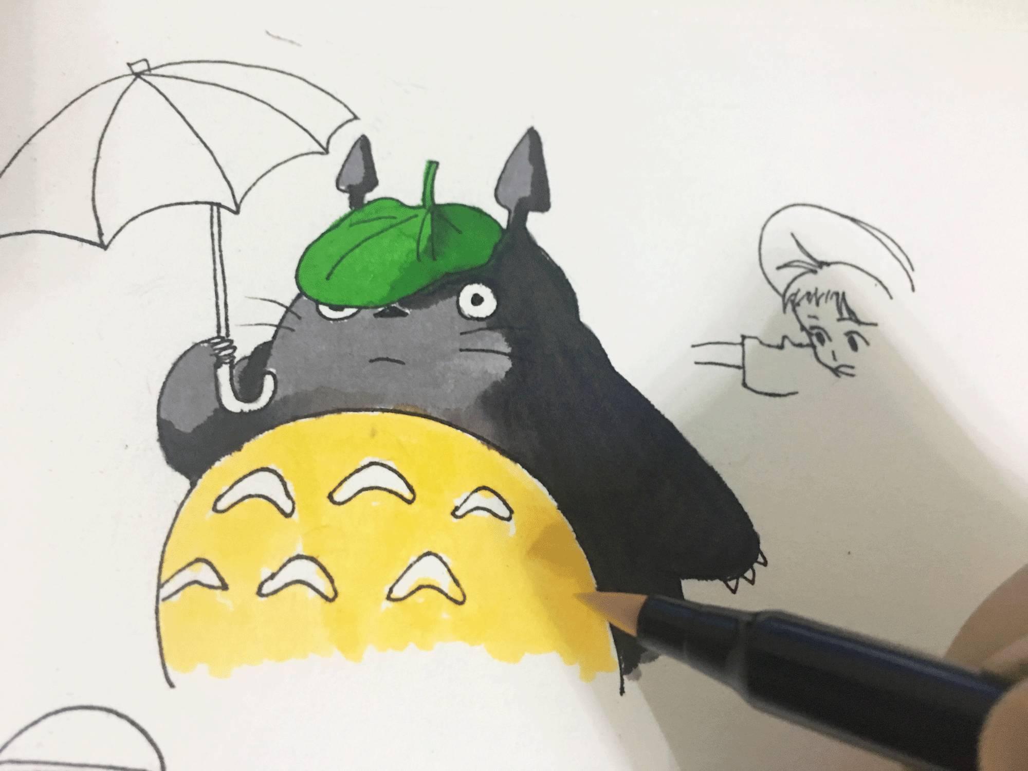 diy相册图手绘龙猫