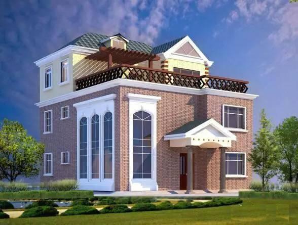 10套农村自建房别墅设计图 收了回老家去盖